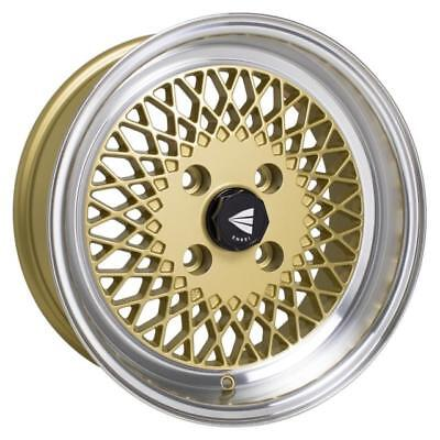 Modern Gold Machine - Enkei 465-580-4925GG 15 x 8 Size 4 x 100 Gold with Machined Lip Wheel Rim Each