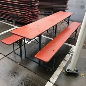 Folding Beer Tables and Benches
