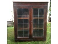 Glass-fronted display cabinet