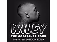 **FACE VALUE** 4x Wiley standing tickets, Friday 16th September, Koko London