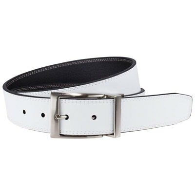 NIKE GOLF MEN'S REVERSIBLE HARNESS BELT SIZE W36 (FITS 34) WHITE/BLACK NEW 19181 (Leather Harness Belt)