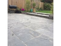Paving Slabs - Brand New 7.2 m2 - Blue Black Paving patio Kit