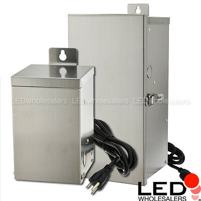 75300w Low Voltage Multi-tap Stainless Steel Landscape Lighting Transformer Etl