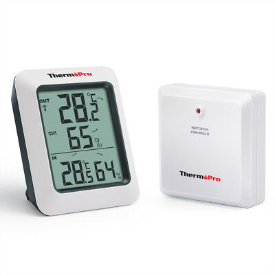 ThermoPro TP60 60M Remote Wireless Hygrometer Indoor Outdoor Thermometer