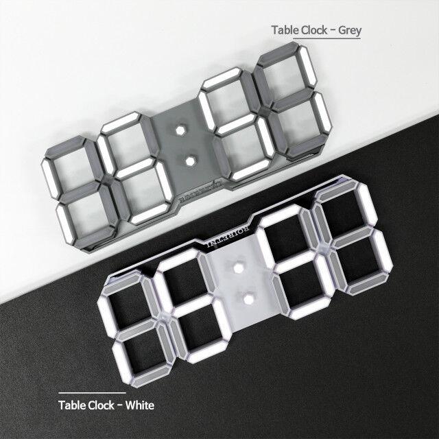 ROIRETNI Modern LED Digital Table Clock with Alarm Calendar Timer 12/24 display