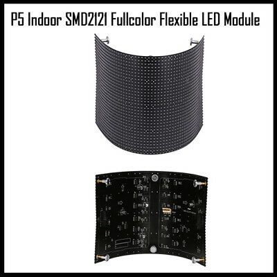 P5 Indoor Screen Rgb Full Color Flexible Led Matrix Panel Module 360 View Angle
