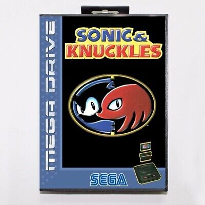 Sonic & Knuckles Mega Drive Game with Box
