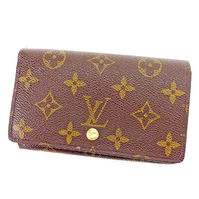 Auth Louis Vuitton Wallet Monogram unisexused T2330