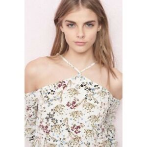 BNWOT Floral Cold Shoulder Top
