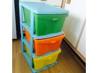 Childrens colourful toy storage drawer