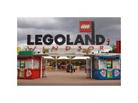 2 LEGOLAND TICKETS FOR BANK HOLIDAY SUNDAY 26TH AUGUST 2018