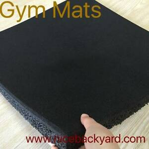 1m X 1m Rubber Gym Mats 15mm and 20mm Campbellfield Hume Area Preview