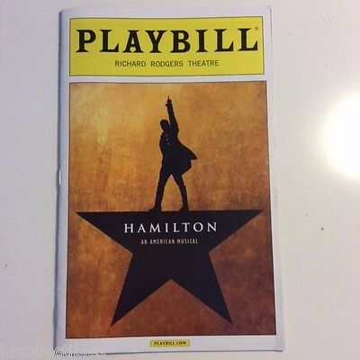 HAMILTON MUSICAL PLAYBILL NEW YORK BROADWAY LIN MANUEL MIRANDA GROFF 1st Edition