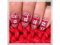 The gel bottle nails (shellac) polish, Christmas designs