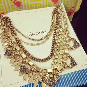 Stella and Dot Gold Sutton NeckLace