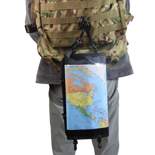 Hiking Field Training Transparent Map Storage Bag Foldable Waterproof Map Pocket