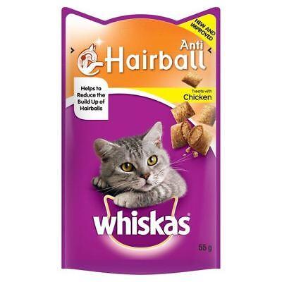 Whiskas Anti-Hairball Cat Treats 55g (PACK OF 2)