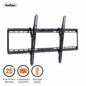 """Vonhaus Ultra Slim Tv Wall Mount Tilt Bracket For 32""""- 65"""" Screens"""