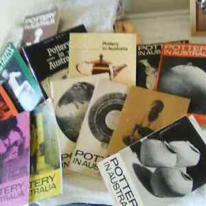 POTTERY IN AUSTRALIA BOOKLETS!!! CERAMICS ART AND PERCEPTION!!! East Brisbane Brisbane South East Preview