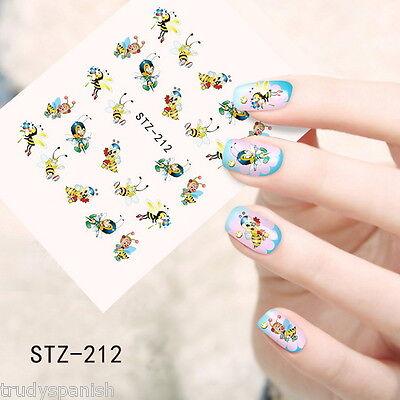 Bienen Summen (Nail Art Wassertransfer Sticker Aufkleber' Fleissige Bienen summen Politur)