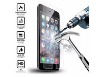 2 X iPhone tempered glass screen protector for iPhone 7 plus 6 6s plus 5 5s + application