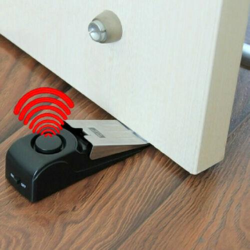 Wireless Door Stop Alarm Safety Wedge Alert Home Travel Security System