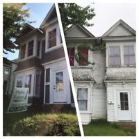 Book your exterior now! Mighty Painters  References avaiable