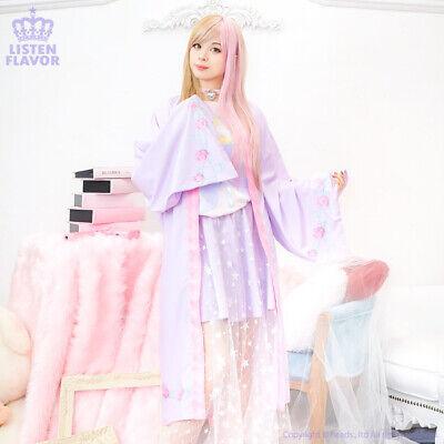Gothic Rose Kimono Gown BABY PINK Harajuku Kawaii LISTEN FLAVOR - Baby Gothic