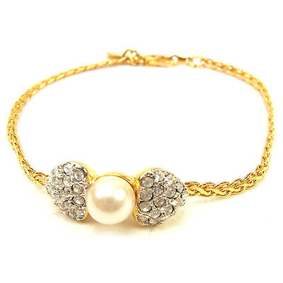 Valentino Bangle Bracelet Gold Woman Authentic Used T486