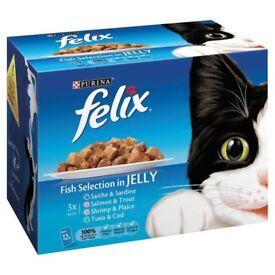 Felix cat food x12