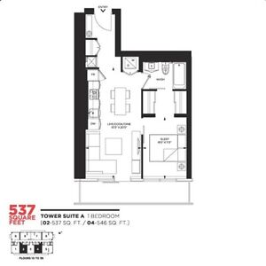 Brand New 1 Bedroom on 2nd Floor @ Dundas St Pace Condos