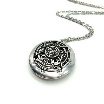 Halskette Medaillon Kelten Kreuz Celtics Amulett Rund Silber Ritter  Celtic Medaillon Halskette