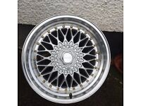X1 17INCH BBS 5x100 LOOK A LIKE ALLOY! 8.5 OFFSET APPROX - GRAB A SPEAR ALLOY!