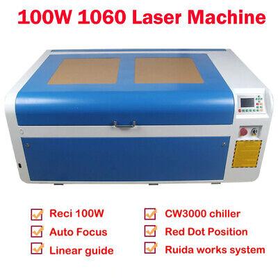 Reci 100w Co2 Laser Engraver Cutting Machine Sl1060 Cw3000 Chiller Us Stock
