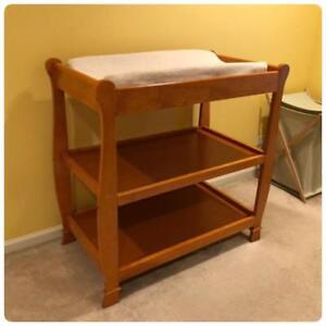 Real wood 3 tier changing table (with free car seat)