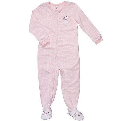NWT ☀FOOTED FLEECE☀ CARTERS Girls Pajamas   New  CAT   24m