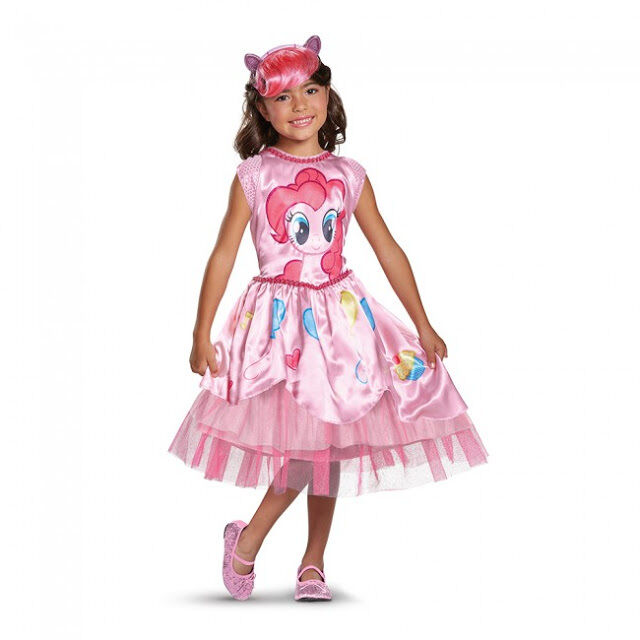 NEW Girls My Little Pony Costume Pinkie Pie Dress Toddler Kids Child Pinky Pink