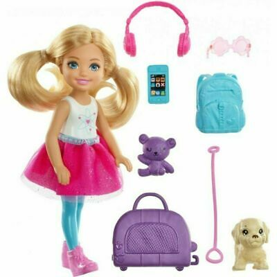 NEW Mattel Barbie Travel Chelsea Doll Dream House Adventures Play Set FWV20