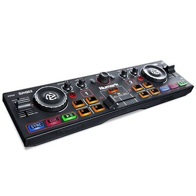 Numark DJ2GO2 2‑Channel Pocket DJ Controller with Audio Interface & Serato Intro