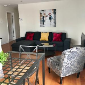 1 juin Laval Appartement tout meublé court terme  1800/ mois