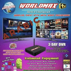 WORLD MAX IPTV BOX ARABIC AFGHAN IRAN LIFETIME SUBSCRIPTION TURKISH Hallam Casey Area Preview