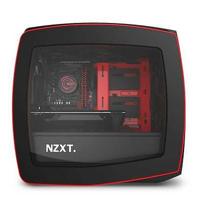 NZXT Manta No Power Supply Mini-ITX Case (Matt Black/Red)
