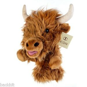 Icon Golf Novelty Highland Cow Driver Headcover
