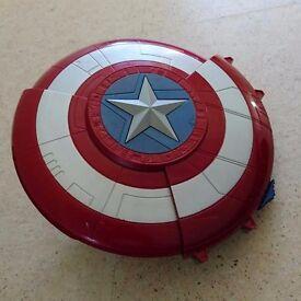 Iron men shoot shield