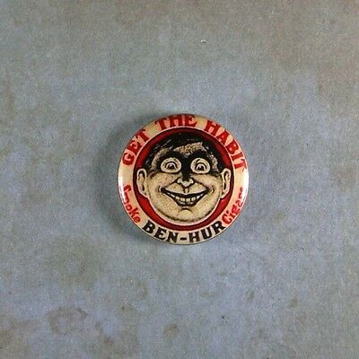 Vintage Style Advertising Sign Pinback Button  1