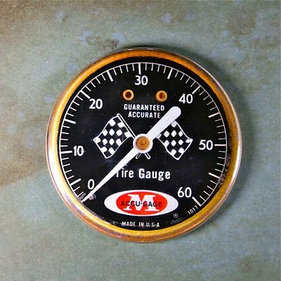 Vintage Tire Pressure Gauge Fridge Magnet 2 1/4