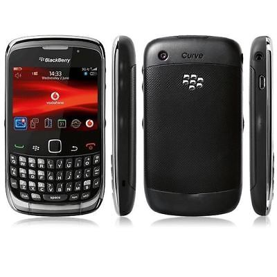 New BlackBerry Curve 9300 Black Unlocked Smartphone Mobile Phone - 12M Warranty