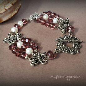 """Lovely handmade bracelet """"Rose Garden"""""""