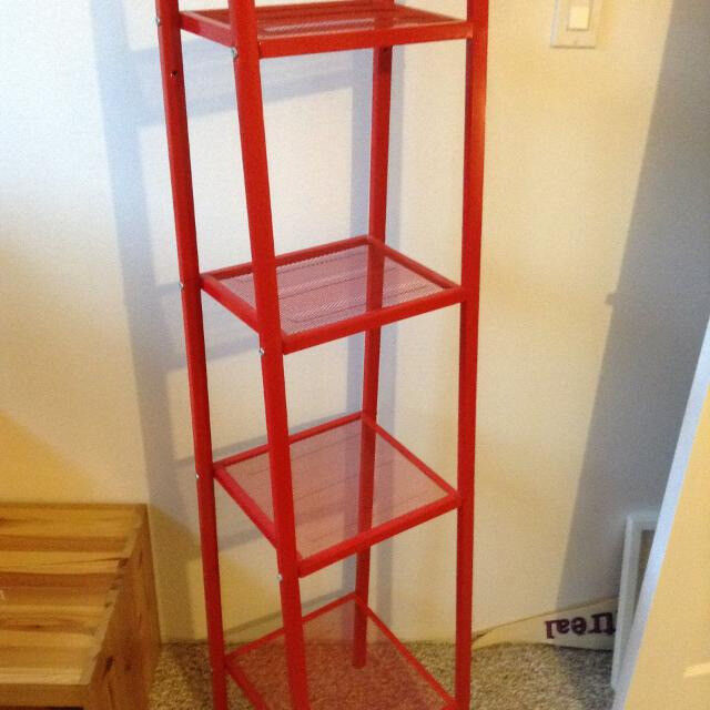 Prime Red Metal Shelf Unit In Livingston West Lothian Gumtree Interior Design Ideas Clesiryabchikinfo