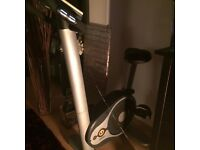 £100 Bargain halley U Bike exercise bike & separate new vibroplate with stretch arm bands attached